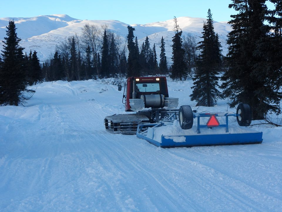 Alaska Snow Cat grooming report for South Denali–1/25/19